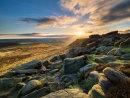 Sunset on Higger Tor - Derbyshire