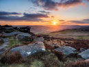 Sunset over the Hope Valley from Over Owler Tor