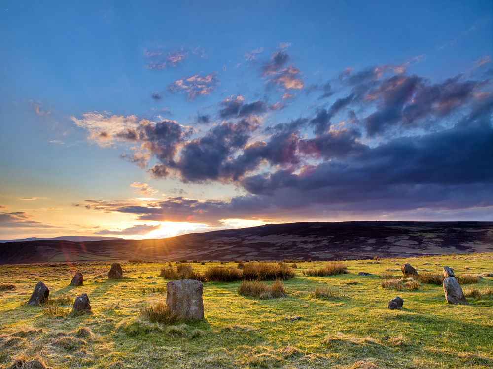 Stone circle on Hordren Edge - Derbyshire