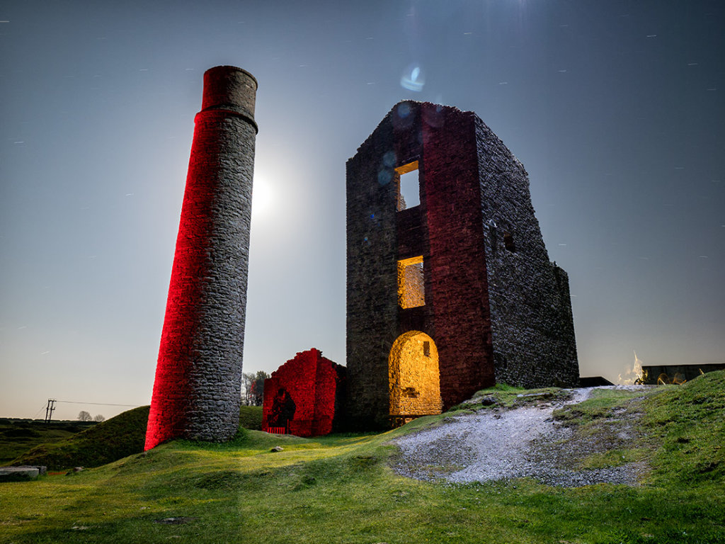 Magpie Mine by moonlight