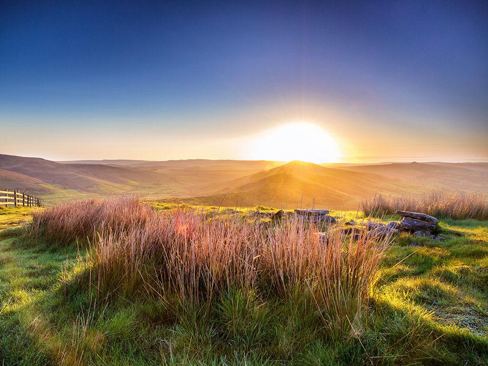Morning light on Mam Tor ridge
