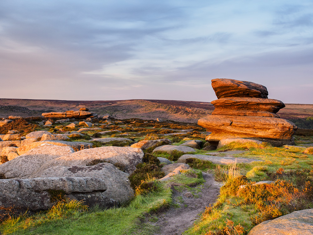 Golden light on Over Owler Tor