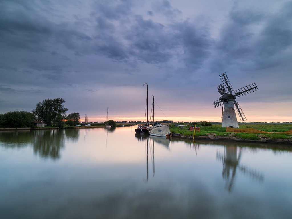 Last light on the river Thurne