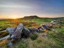 Summer sunset over Higger Tor from Carl Wark