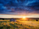 Wardlow barn sunset