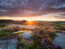 Summer sunrise at Over Owler Tor