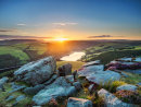 Sunset over Ladybower from Winstone Lee Tor