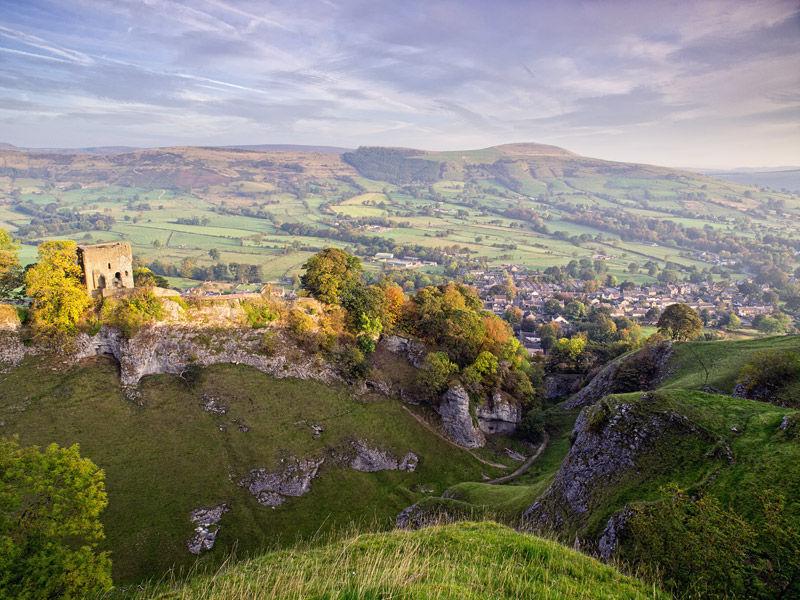 Peveril Castle in autumn