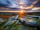 Autumn sunset at Carhead Rocks