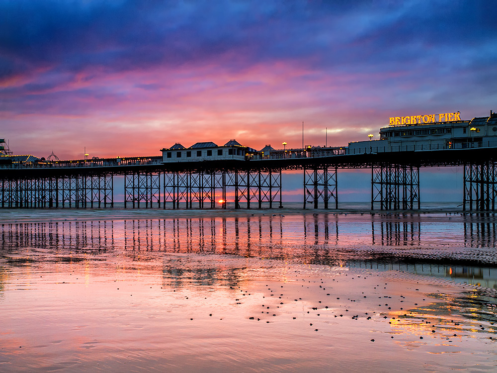 Sunset at Brighton pier