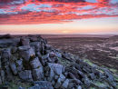 Fire over Stanage