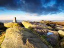 Overstones trig point - Stanage Edge