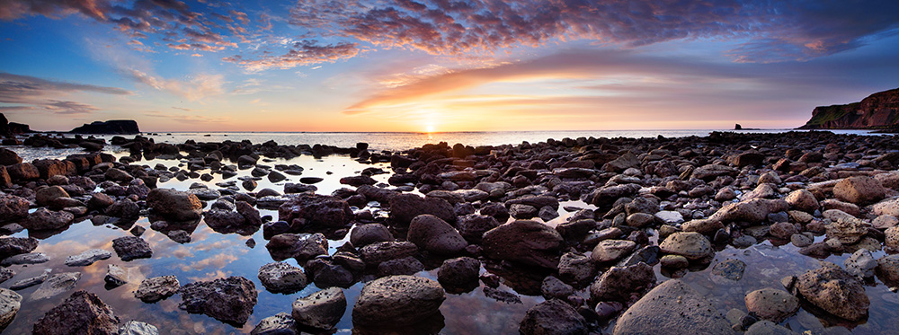 Sunrise over Saltwick Bay June 2014