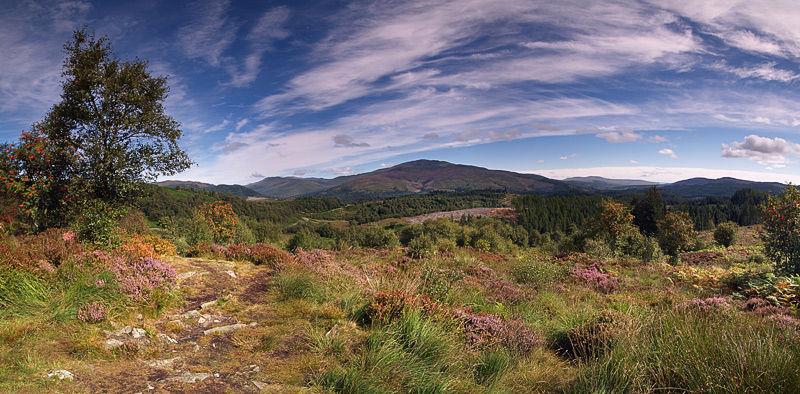 Trossacks panorama Scotland