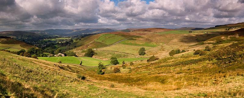 Mitchell Field above Hathersage Derbyshire