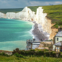 7013-Birling  Gap cliffs cottages