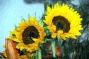 La peinture impressionniste de tournesol