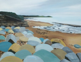 SOLD.  South beach, Pembrokeshire. Towards Tenby.