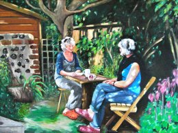 Morning coffee in the Artists garden