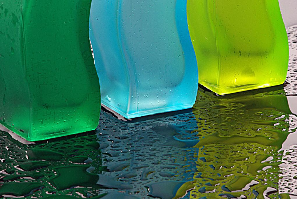 Bottle Bottoms with black rain