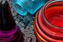 Coloured glass study No3
