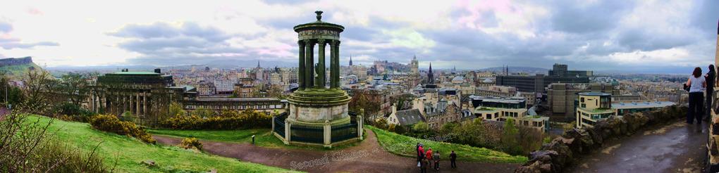 Edinburgh panorama view