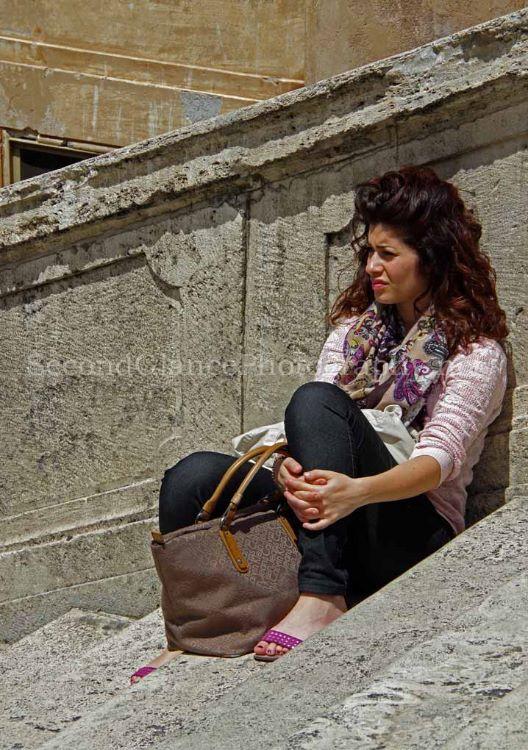 Spanish Steps Lady