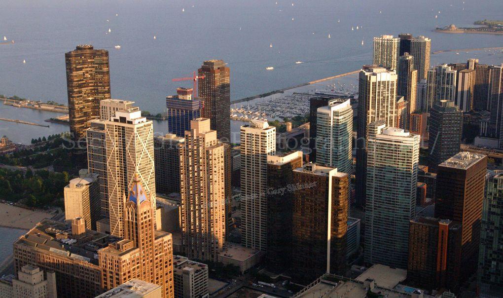 Evening light  on Chicago City