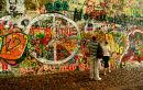 John Lennon Grafitti Wall Prague