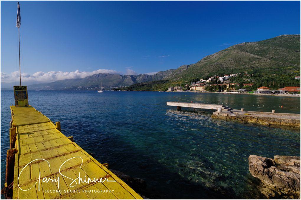 Yellow boardwalk - Cavtat