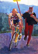 Marco Pantani Classic duel with the devil