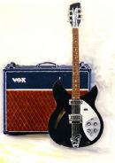 Rickenbacker Guitar and Vox Amp ...Acrylics