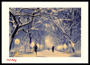 Running in a snowy Central Park