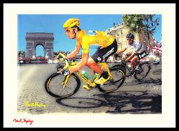 Tour De France Paintings. 'Le gentleman et le missile à paris.