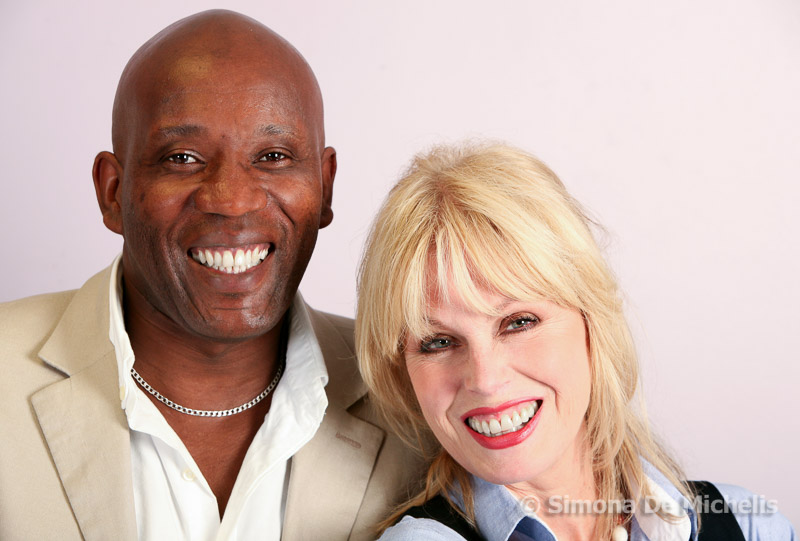 Joanna Lumley with staff from Thames Reach Charity