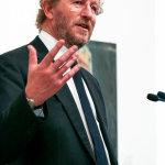 Sebastian Faulks speaking at BP Portrait Awards
