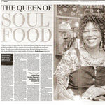 Double page spread in 'The Independent'