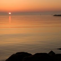 Here comes the sun. Sunrise at the IJsselmeer