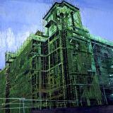 Tower Scaffolding, oil on canvas, Simon McWilliams