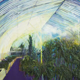 Inside the Glass House, Glasnevin, oil on canvas