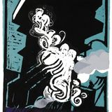 """""""Belfast Monolith"""" Linocut with Chine Collé 29.5 x 20cm edition of 10"""
