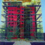 Red Apartments, oil on canvas, collection Bank of Ireland