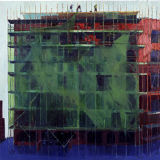 Scaffold Workers, oil on canvas, 2001, 74 x 77 inches