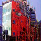 Titanic Quarter Building, oil on canvas, 32 x 24 ins