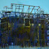 Blue Scaffolding