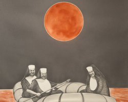 Three nuns in a Dinghy