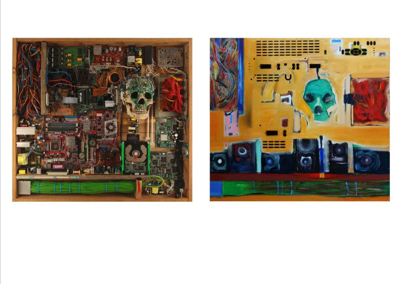 TECHNOLOGY STATE OF MIND (diptych) 2014