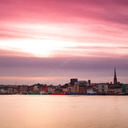 Sunset over Wexford Town