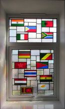 Flags stained glass