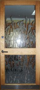 Etched Confessional Door